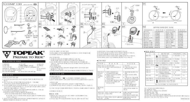 Topeak comp 140 manual