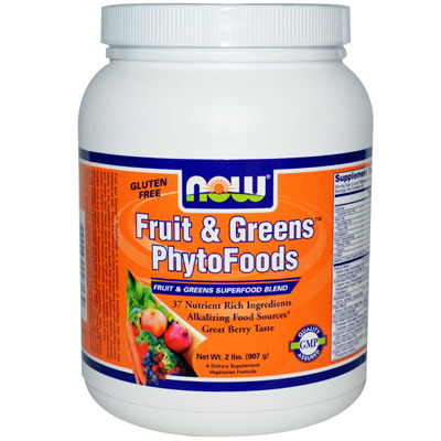 과일&채소 파이토푸드  파우더 Fruit & Greens PhytoFoods 2 Lb NOW
