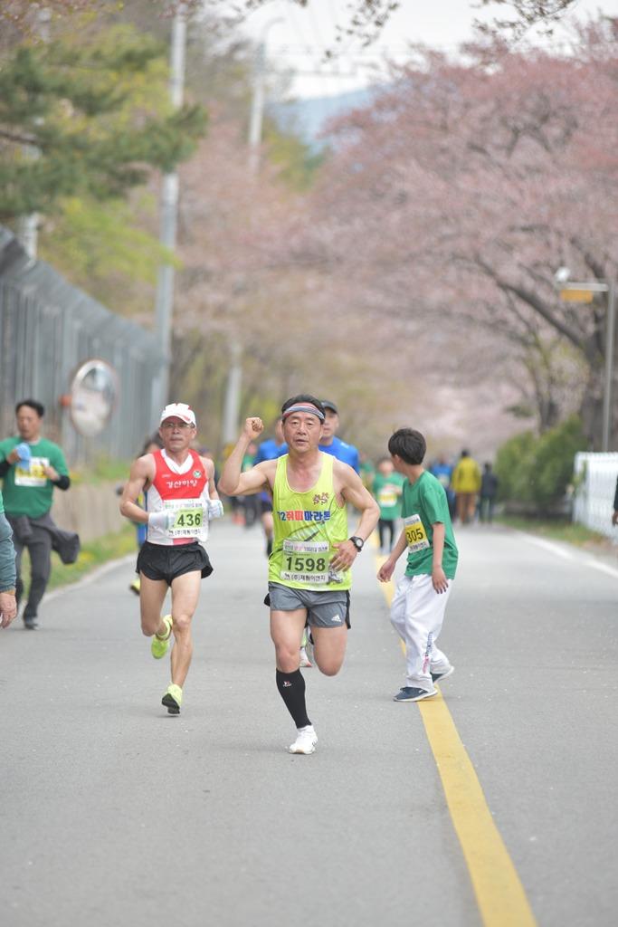 2019 영천댐 벚꽃마라톤대회 주로(10:54 ~ 11:00)