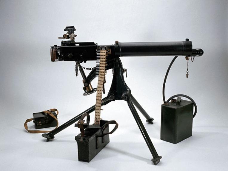 영국군 빅커스 303 수냉식 기관총의 머즐 부스터 - British Army Vickers 303 water cooled Machine Gun Muzzle Buster
