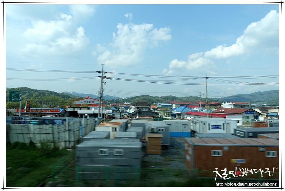 조치원역에서 신탄진역까지 기차밖 풍경