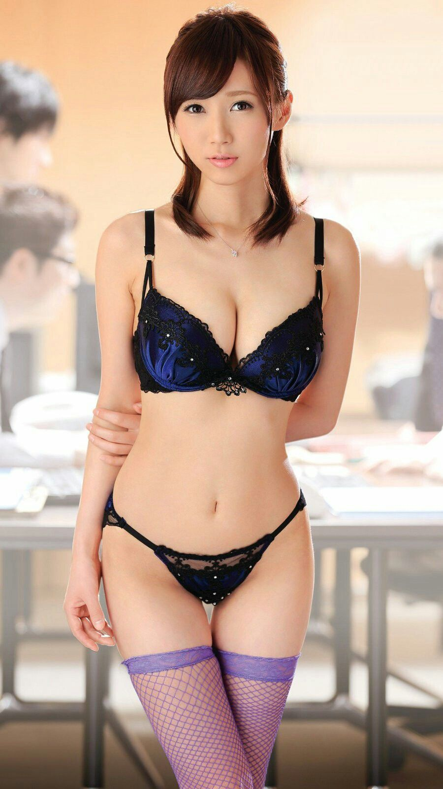 hot Japanese in lingerie